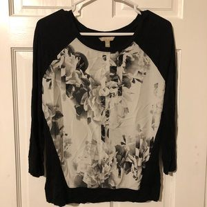 Banana Republic floral sweater (size small)